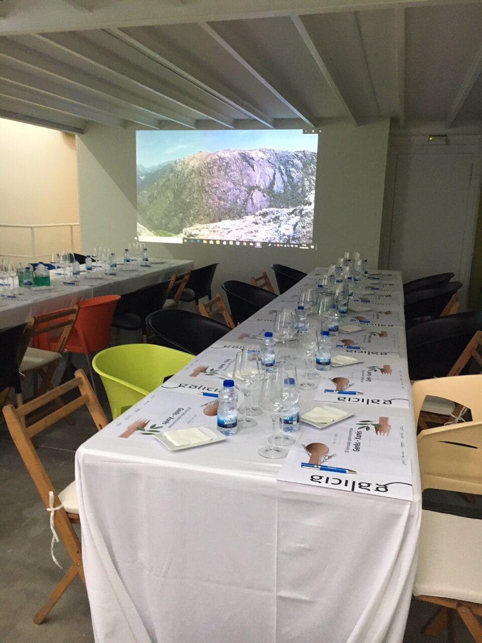 diferentes salas en las que desarrollar el evento